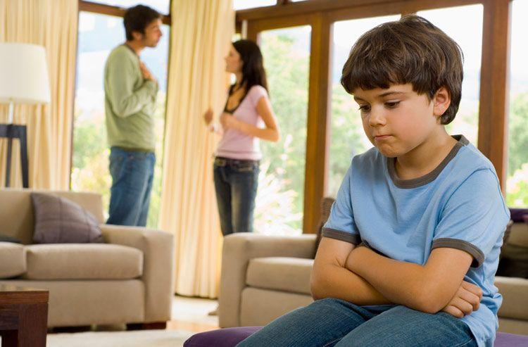 При разводе родителей у ребенка нет доли